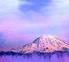 Vivid Mountain Sunset by Tori Snow