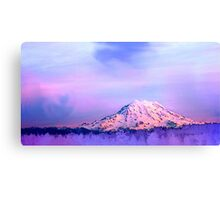 Vivid Mountain Sunset Canvas Print