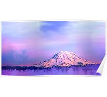 Vivid Mountain Sunset Poster
