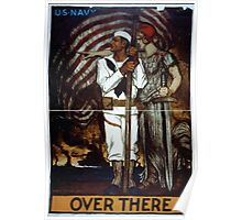 Over there US Navy Poster