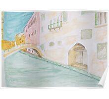 Street Canal Bridge. Poster