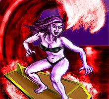 Surfing Vampire by rawjawbone