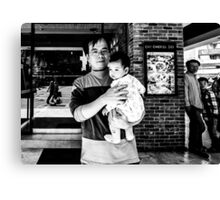 Man and Baby Canvas Print