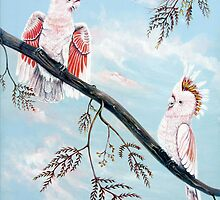 Major Mitchell's Cockatoos by © Linda Callaghan