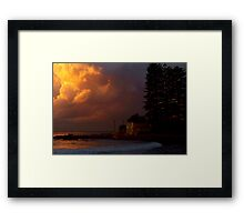 flame clouds Framed Print