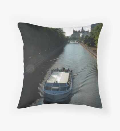 The Ottawa Canal in Summer Throw Pillow