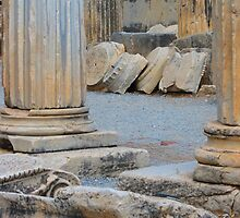 Roman Column Remains of Ephesus by Mary-Elizabeth Kadlub
