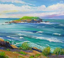 Cook Island Fingal Head NSW  by Virginia McGowan
