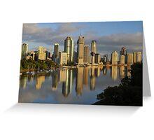 Brisbane City And River At Sunrise. Queensland, Australia Greeting Card