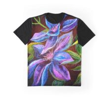 Flowers...Clematis Graphic T-Shirt