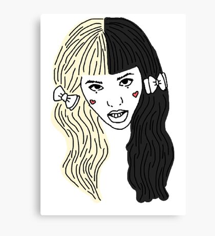 Mealanie Martinez - Outline Canvas Print