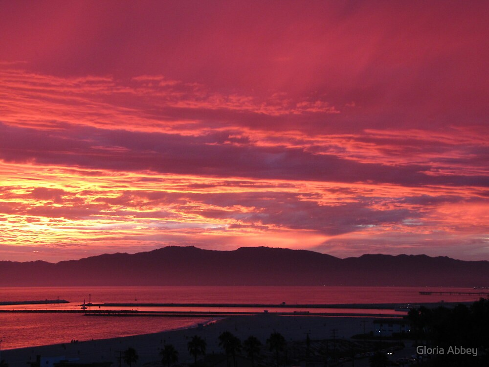 Sunset 7-18-12 Los Angeles by Gloria Abbey