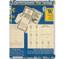 Buy US government War Savings Stamps 25centsstarts you Let your quarters help win the war 002 iPad Case/Skin