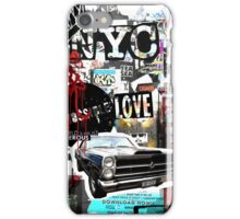 Ny street collage 01 iPhone Case/Skin