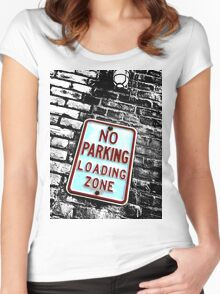 No parking loading zone Women's Fitted Scoop T-Shirt
