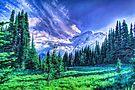 Painterly Mount Rainier by Tori Snow