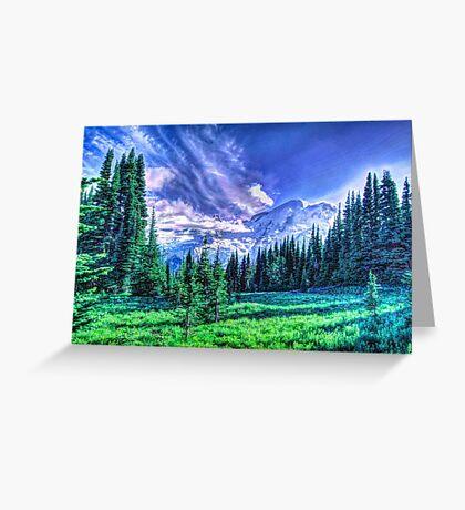 Painterly Mount Rainier Greeting Card