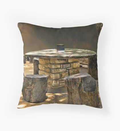 A TOUCH OF THE WILD WEST Throw Pillow