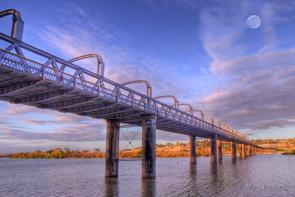 Into Infinity - Motor Bridge at Murray Bridge, South Australia by Mark Richards