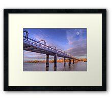 Into Infinity - Motor Bridge at Murray Bridge, South Australia Framed Print