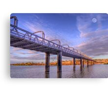 Into Infinity - Motor Bridge at Murray Bridge, South Australia Canvas Print
