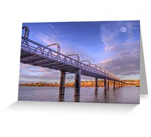 Into Infinity - Motor Bridge at Murray Bridge, South Australia Greeting Card