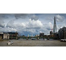Thames view with Shard Photographic Print