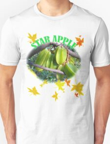 Star apple fruit green image and leaf painting Unisex T-Shirt
