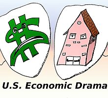 US Economic Drama cartoon by Binary-Options