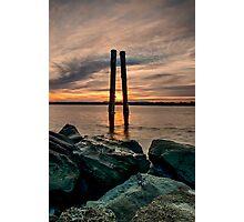 Sunset Poles Photographic Print