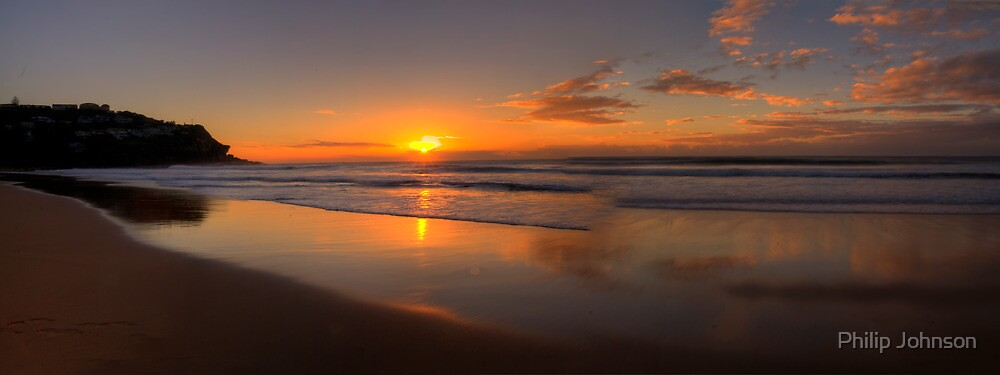 Reflections of Morn -Whale Beach, Sydney Australia  -  The HDR Experience by Philip Johnson