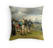A Walk In The Park....First Stop Throw Pillow