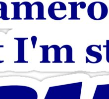Cameron Crazy Sticker