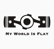 Subaru My World is Flat Kids Tee