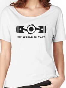 Subaru My World is Flat Women's Relaxed Fit T-Shirt