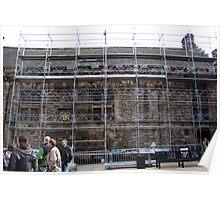 Scaffolding inside the Edinburgh Castle Poster
