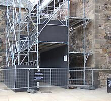 Repair work inside the Edinburgh Castle by ashishagarwal74
