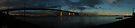 westgate bridge near sunset super wide panorama 001 by Karl David Hill