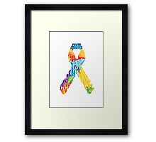 Let's help fight cancer Framed Print