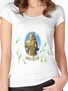 Dharma monk sivalee photos on respect in shirt Women's Fitted Scoop T-Shirt