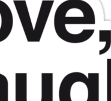 Live , love , laugh and girls Sticker