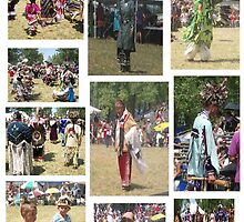 Pow Wow Collage by Doreen Gilbert