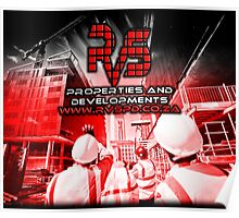 RVS Properties And Developments. Construction Business, Brand Loyalty Gifts Poster