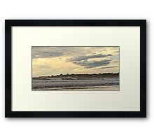 Ominous Skies at Mavillette Framed Print