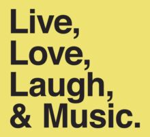 Live , love , laugh and music Kids Clothes