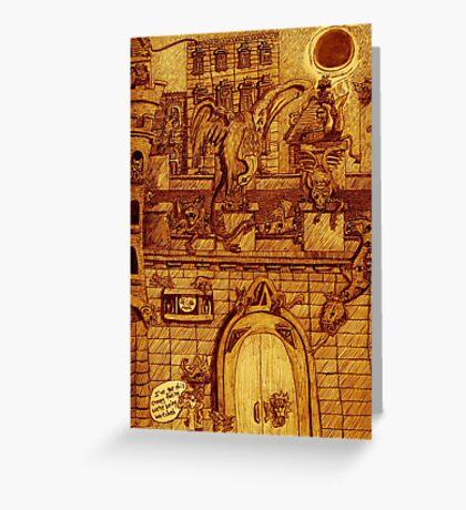 The Gargoyles' NighT Greeting Card