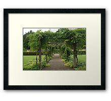 Clear Structure Framed Print