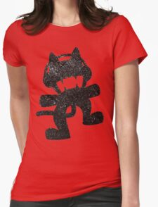SprayPaint Cat Womens Fitted T-Shirt