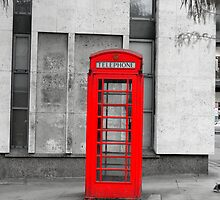 Red phone box by Zoe Toseland