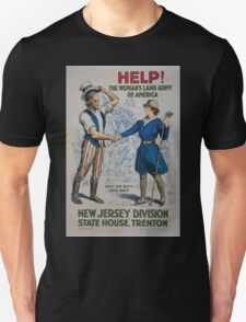 Help! The Womans Land Army of America New Jersey Division State House Trenton T-Shirt